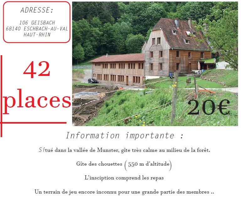 WEEK END Club dans les Vosges 2019
