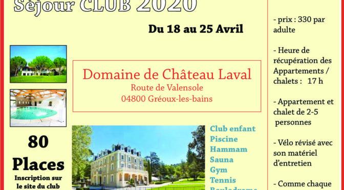 Séjour club 2020