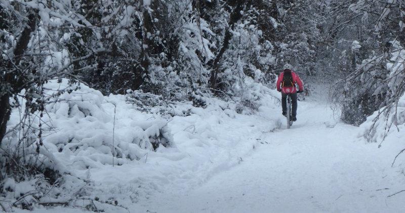 2021-01-16 Samedi …dans la neige : Vtt et Luge !